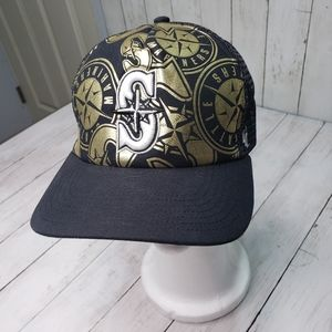 Seattle Mariners '47 Brand Black Gold Snapback